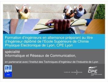 Formation d'ingénieurs en alternance préparant au titre d ... - ITII-Lyon