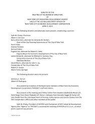 IDA Board of Directors Meeting Minutes April 9 2013 - NYCEDC