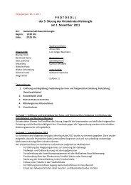Protokoll der 5. Ortsbeiratssitzung