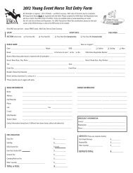 2012 Young Event Horse Test Entry Form (pdf) - Rebecca Farm