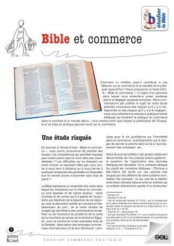 Bible et commerce_SEL