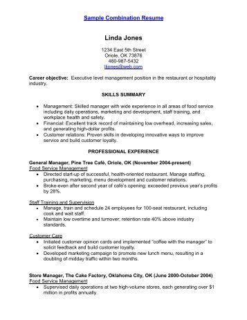 Sample Chronological Resume AARP WorkSearch