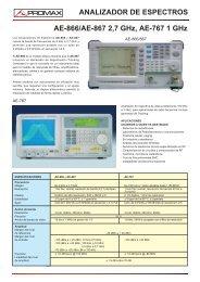 Analizador de espectros - AE-767 / AE-866 / AE-867 - Promax