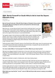 Bernie Fanaroff on South Africa's bid to host the Square ... - SKA