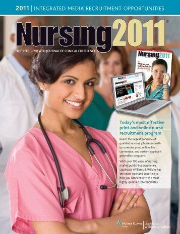 2011 | integrated media recruitment opportunities - Lippincott ...
