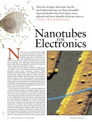 Nanotubes for Electronics