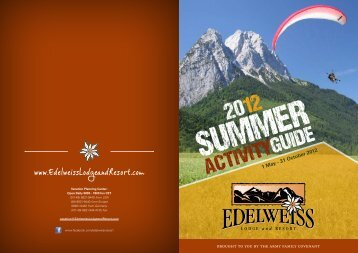 ACTIVITY GUIDE - Edelweiss Lodge and Resort