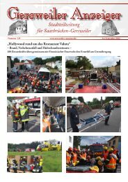 Stadtteilzeitung für Saarbrücken-Gersweiler - Gersweiler Anzeiger