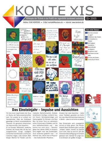 Das Einsteinjahr – Impulse und Aussichten - KON TE XIS