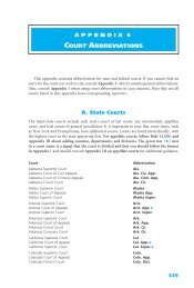 APPENDIX 4 COURT ABBREVIATIONS A. State Courts