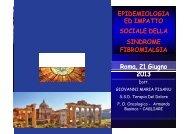 epidemiologia ed impatto sociale della sindrome fibromialgia