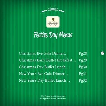 Festive Day Menus - The Victoria Hotel