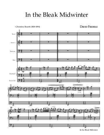 In the Bleak Midwinter - David Friddle
