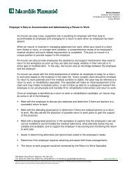 Employer's Duty to Accommodate and Administering a Return to ...