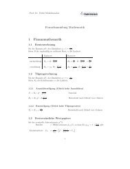 Formelsammlung Mathematik & Statistik - Hochschule Fresenius