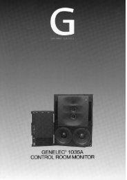 GENELEC® 1035A CONTROL ROOM MONITOR