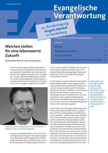 download PDF, 918 Kb - Evangelischer Arbeitskreis der CDU/CSU