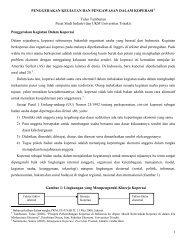 penggerakan kegiatan dan pengawasan dalam ... - Kadin Indonesia