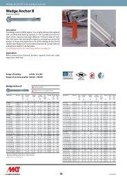 Wedge Anchor B - MKT Metall-Kunststoff-Technik GmbH & Co. KG