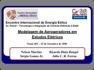 Modelagem de Aerogeradores em Estudos Elétricos - Nelson Martins