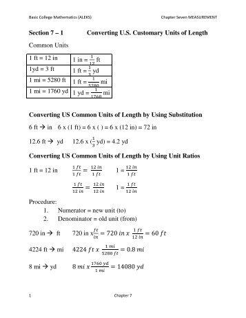 U.S. Customary Units - Conversions Worksheet ... - WCSnet.org