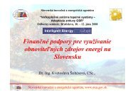 Finančné podpory pre využívanie obnoviteľných zdrojov energi na ...