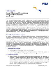 Level 4 Merchant Compliance Program Requirements - Visa