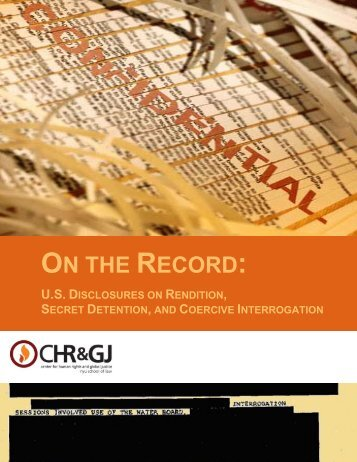 ON THE RECORD: - The Rendition Project