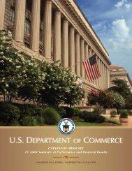 FY 2008 Citizen's Report - Department of Commerce
