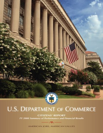 FY 2008 Citizen's Report - Department of Commerce