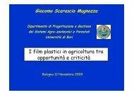 smaltimento dei materiali e agli effetti sul paesaggio agrario - Tec.bio