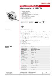 TECHNISCHES DATENBLATT Absolutgeber AC ... - Hengstler GmbH