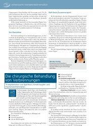 Die chirurgische Behandlung von Verbrennungen - biomed-austria
