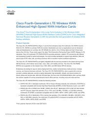 Cisco Fourth-Generation LTE Wireless WAN Enhanced High-Speed ...