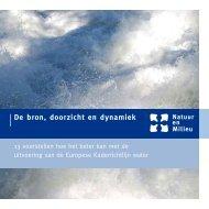 Brochure De bron, doorzicht en dynamiek, KRW (dec 2007)