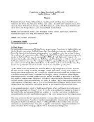 October 11, 2004 - Governance Minutes - Virginia Tech
