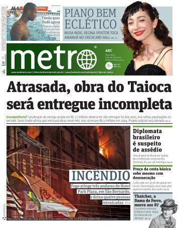 Atrasada, obra do Taioca será entregue incompleta - Metro