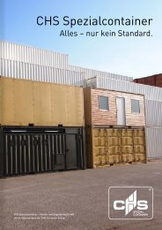 Broschüre CHS Spezialcontainer - Stand: Nov. 2013