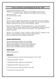 Procès-verbal du Conseil Municipal du 26 mars ... - Ville de Brignoles