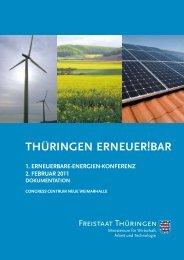 Thüringen Erneuer!Bar, Dokumentation 2011 - BUND e.V. ...