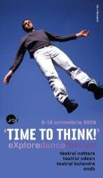 Program explore dance festival – Time To Think - ArtLink