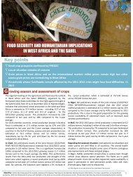 Food Security and humanitarian implications in West Africa - FAO