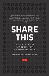 THE SOCIAL MEDIA HANDBOOK FOR PR PROFESSIONALS - CIPR