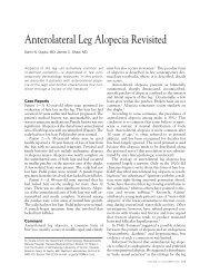 Anterolateral Leg Alopecia Revisited - Cutis