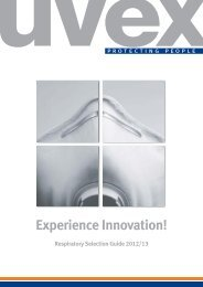 Respiratory Selection Guide 2012/13 - UVEX SAFETY