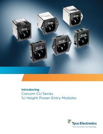 Corcom CU Series 1U Height Power Entry Modules - Elimec