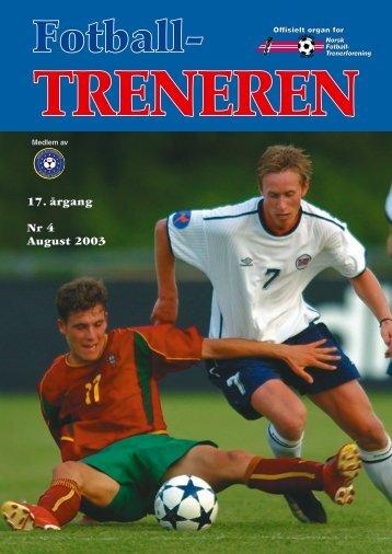 17. årgang Nr 4 August 2003 - trenerforeningen.net