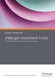 JPMorgan FLEMING INVESTMENT FUNDS - Fideuram Vita