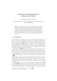 Atomistic Simulation Studies of Polymers and Water