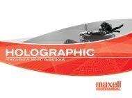 Holographic Media - Maxell Canada
